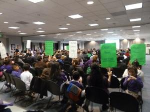 School-board-crowd protest