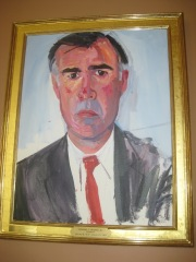 Jerry Brown's official state portrait from his first stint as governor (1975 - 1983)