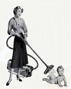 Hoovering baby